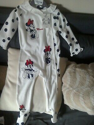 Disney Baby Girls Minnie Mouse all in one 12-18M at Mothercare