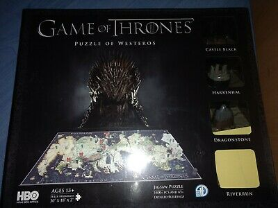Game of thrones puzzle of Westeros 3d