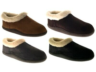 Womens Faux Fur Lined Slipper Boots Ladies Faux Suede House Booties Shoes Size