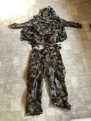 Swiss Alpenflage TAZ 83 Camo Pattern Sniper Suit Field Jacket And Pants Surplus