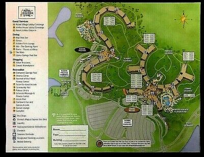 NEW 2020 Walt Disney World Animal Kingdom Lodge Map + 5 Theme Park Guide Maps
