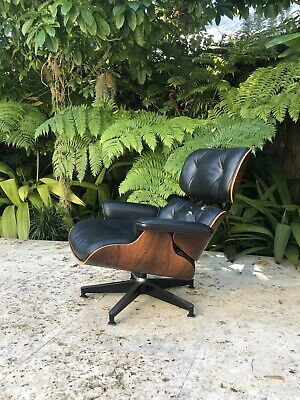 Eames Herman Miller Lounge Chair Rosewood & Black Leather