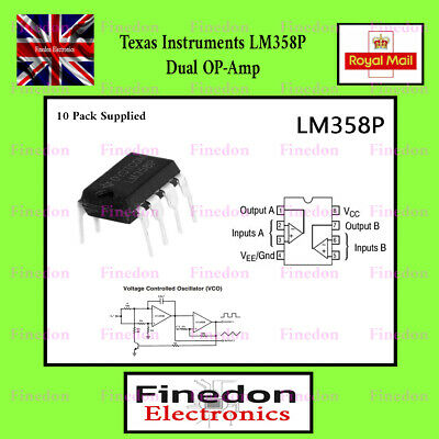 5 Qty LM358 Dual Low Power Op Amp IC UK Seller