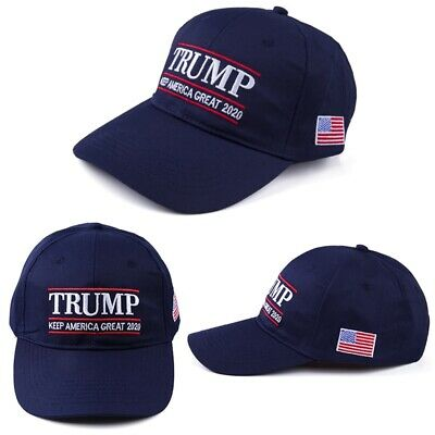 Donald Trump 2020 Keep America Great Embroidered Navy Blue Hat Cap amsd