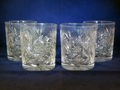 Bohemian Pinwheel Crystal, Double Old Fashioned Glasses