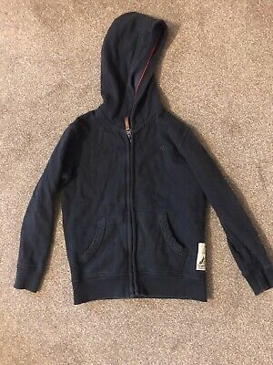 Fat Face Boys Navy Zip Up Hoodie Age 6-7