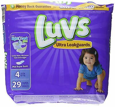 Luvs Ultra Leakguards Diapers with Night Lock, Size 4