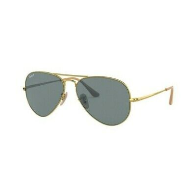 Occhiali sole Ray Ban RB3689 9064/S2 58 Gold Blue polarized