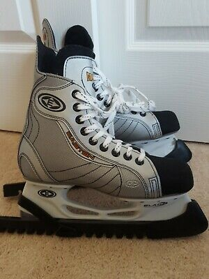 Easton Magnum Ice Hockey Skates Size 5 with Skate Guards Near Mint Condition