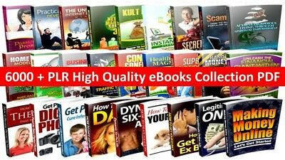 6000 PLR High Quality Ebooks Collection PDF Articles 24hrs Free shipping