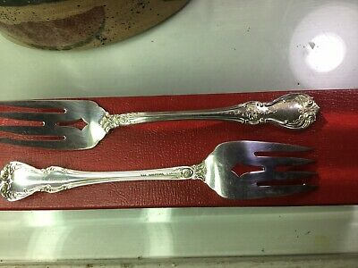 ( pair, Lot of 2) Sterling Silver Salad Forks by Towle Old Master excellent cond