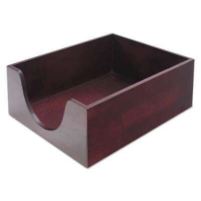 Carver Hardwood Letter Stackable Desk Tray, Mahogany 018387082137