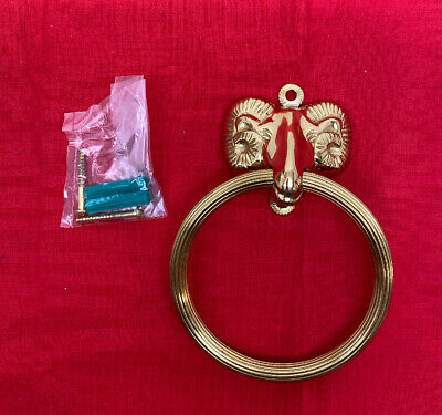 Brass Door Knocker Antique Design Ram Head