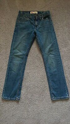 Boys LEVI Strauss Jeans Slim Leg 511 Age 12-13 Years Denim Blue Levis