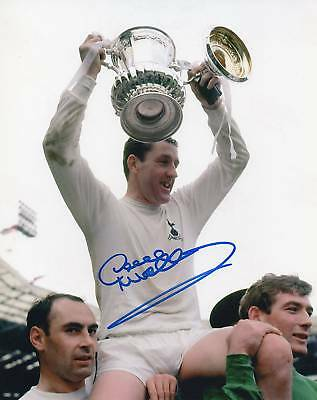 DAVE MACKAY Signed 10x8 Photo TOTTENHAM HOTSPUR Legend COA