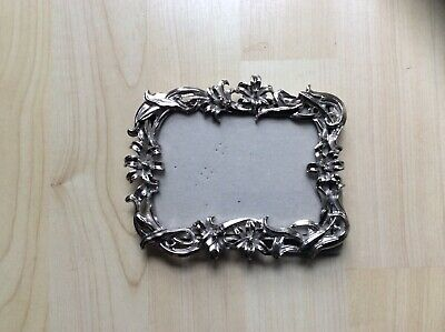 Sixtrees Attractive Silver Plate Rococo Style Small Photo Frame
