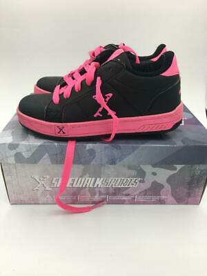 Girls Sidewalk Sports  Black Pink Heelys UK Size 2