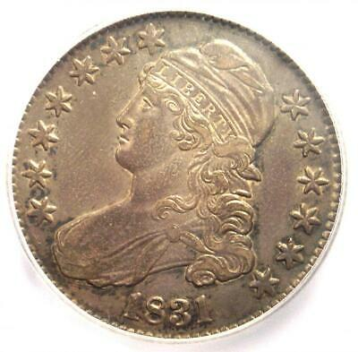 1831 Capped Bust Half Dollar 50C Coin O-105 - Certified ICG AU55 - $468 Value!
