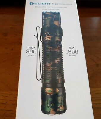 Olight M2R PRO Warrior 1800 Lumens Tactical Light LIMITED EDITION CAMO BNIB