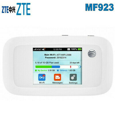 ZTE MF923 Velocity (AT&T) MIFI Hotspot 4G LTE High Speed - NO BATTERY NO COVER ~