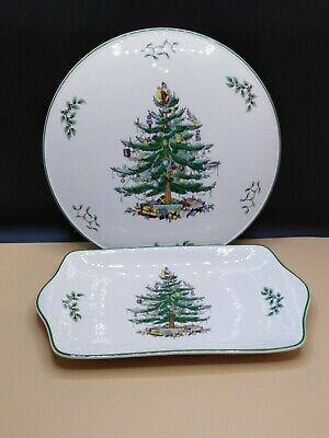 Spode Christmas Tree Cake Plate and serving dish.