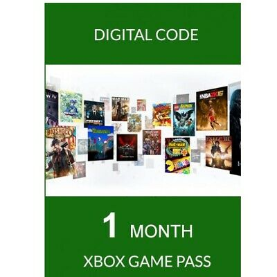 Microsoft Xbox Game Pass 1 Month 30 Days Trial Membership Digital Download Card
