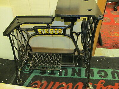 Vintage Singer Cast Iron 29-4 Industrial Treadle Sewing Machine Base Only,