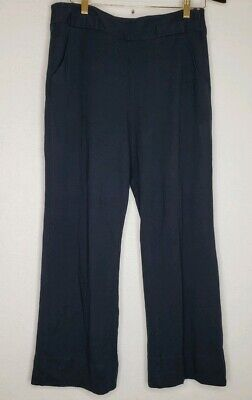 Cabi Womens Size 8 Comfortable Career Pants Navy Blue Soft Stretch Bootcut