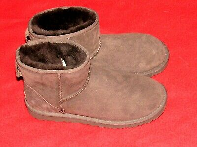 NEW UGG Australia Suede Classic Mini Boots Brown S/N 5854 Women's Size 8