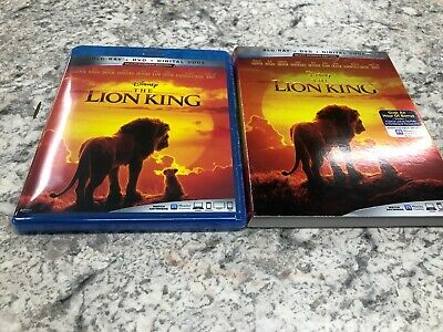 The Lion King (Blu-Ray + DVD + Digital, 2019) w/ Slipcover New LIVE ACTION