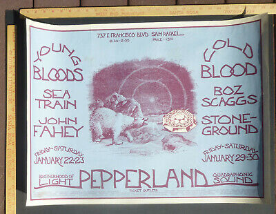 Youngbloods Cold Blood John Fahey Boz Scaggs ConcertPoster Pepperland 1971