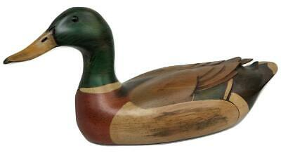 Vintage Woodendare Tom Taber Hersey Kyle Decoy Mallard Duck Painted Wood Figure