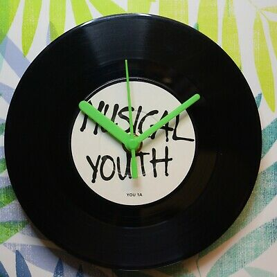 """Musical Youth """"Pass The Dutchie"""" Retro Chic 7"""" Vinyl Record Wall Clock"""
