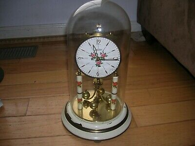 Vintage Haller Simonswald Anniversary Clock W/Dome For Parts And Repair Only