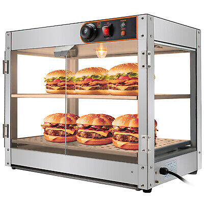 Commercial Food Warmer Pizza Warmer 15-Inch Pastry Warmer with Magnetic Doors