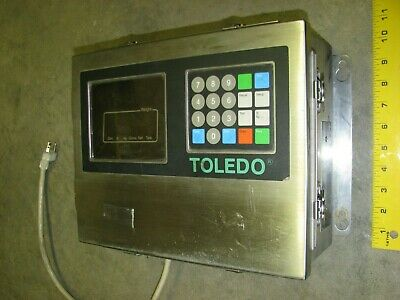 TOLEDO 8142 Digital Display Weight Scale Readout Monitor 120 Volt AC Stainless