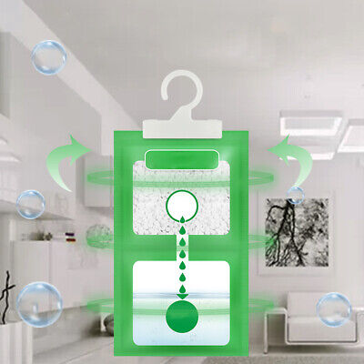 Scented Hanging Dehumidifier Bag Wardrobe Damp Moud Moisture Absorb 11.4''x6.2''