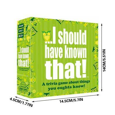 I Should Have Known That! Board Game