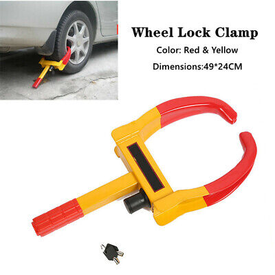 Wheel Lock Clamp Boot Tire Claw Trailer Car Truck Anti-Theft Towing Durable Tool