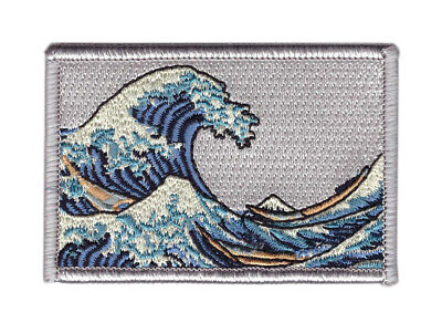 Great Kanagawa Wave Japanese Inspirational VELCRO® BRAND Hook Fastener Patch
