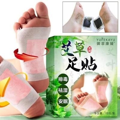 10Pcs Care Wormwood Foot Pads Detoxifying Detox Paste Patches Chinese Medicine