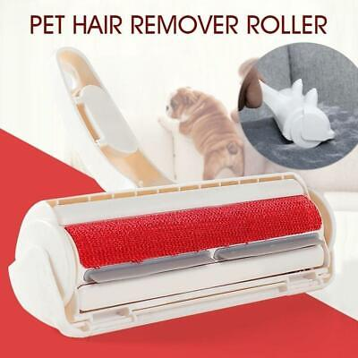 2-Way Pet Remover Hair Remover Roller Dog Dog Self Dusting Cleaning Brush W0A0