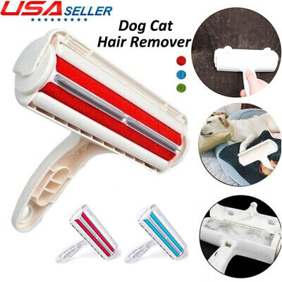 Pet Hair Remover Sofa Clothes Lint Cleaning Brush Reusable Dog Cat Fur Roller US