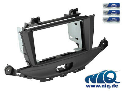 Doppel-DIN 2-DIN KFZ Radioblende Abdeckung Opel Astra H Twin Top ab2004 charcoal