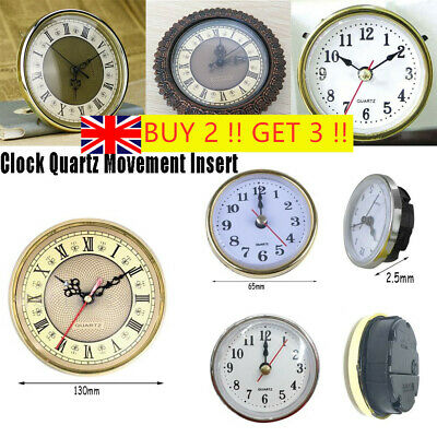 "Shellhard 2-1/2"" (65mm) Clock Quartz Mechanism Parts Movement DIY Insert UK*"