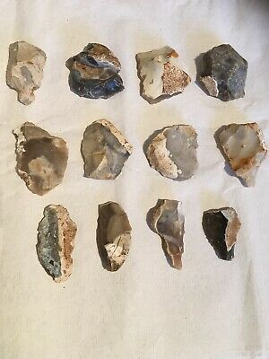 Neolithic Flint Worked Pieces Tools/cores/flakes 4000-3;500bc