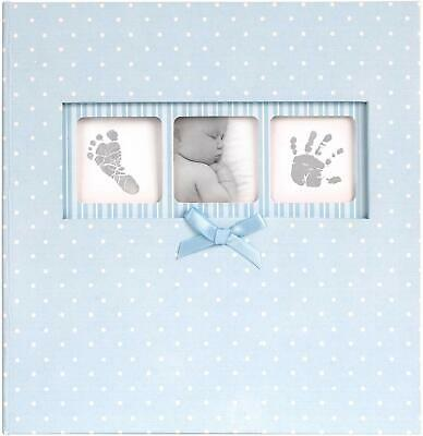 Innova - Baby Boy Polka Dot Slip In Memo Photo Album Blue 200 Photos 6 x 4 in