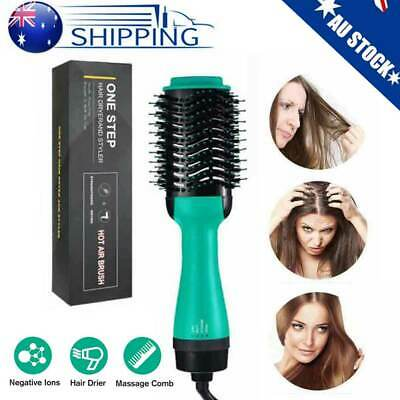 AU 4-in-1 One Step Hair Dryer Comb and Volumizer Pro Brush Straightener Curler