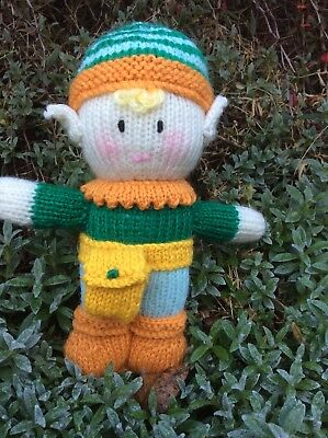 """Hand Knitted Tooth Pixie, doll/toy. approx 9"""" tall. NEW."""