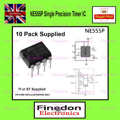 10 Qty NE555  BIPOLAR TIMER IC UK Seller
